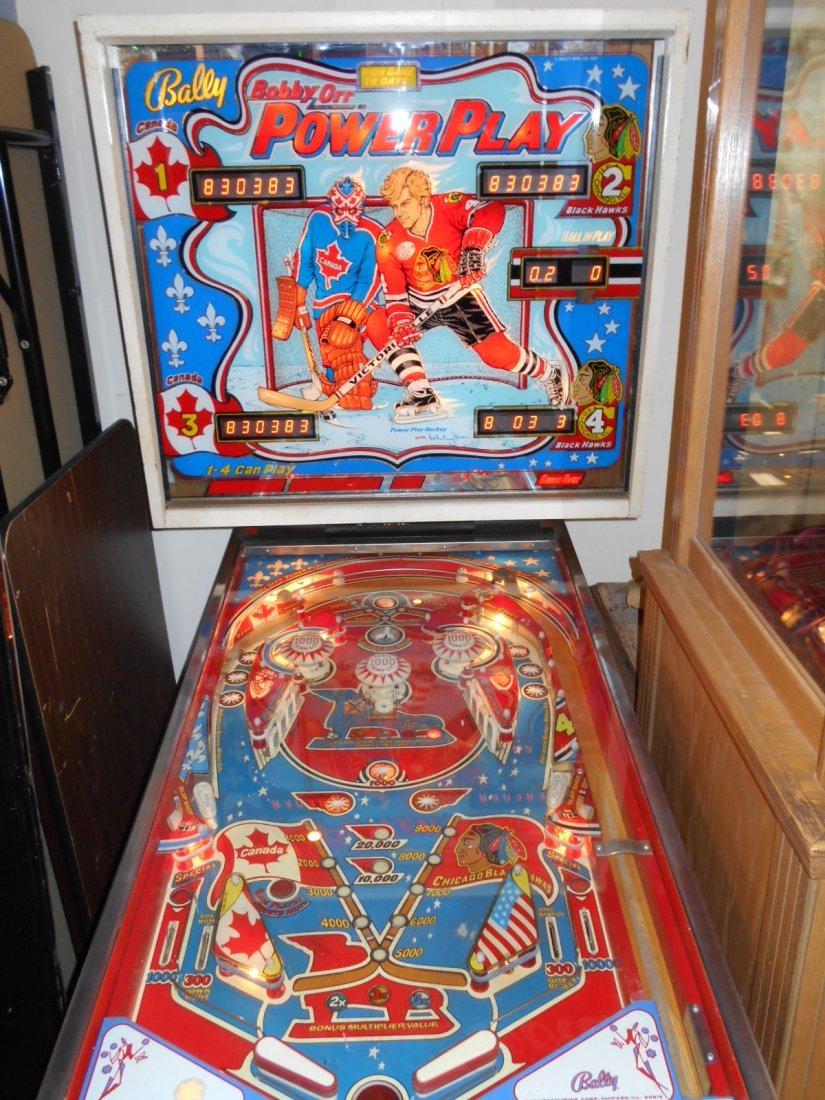 Bally Bobby Orr Power Play Pinball Machine