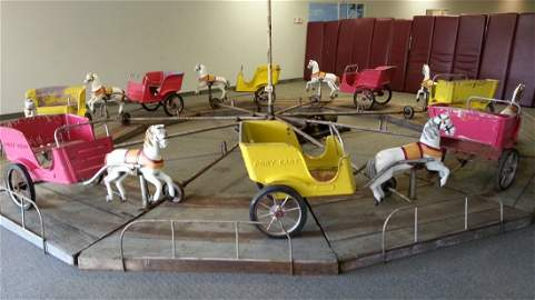 1940\'s  Coney Island Pony Cart Carnival Ride