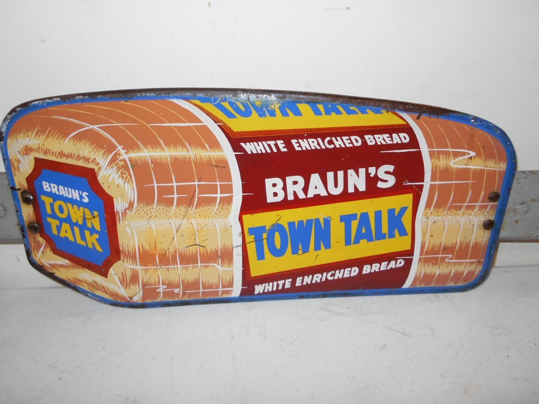 Braun's Town Talk Bread door push