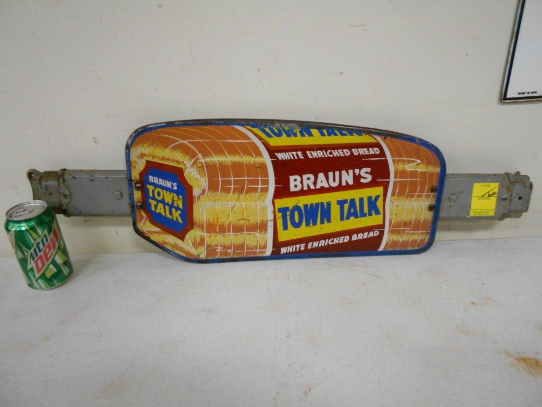 Braun's Town Talk Bread door push - 2