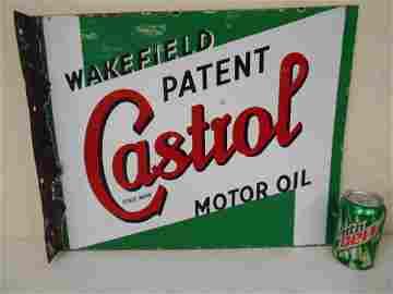 Porcelain Castrol Oil flange sign