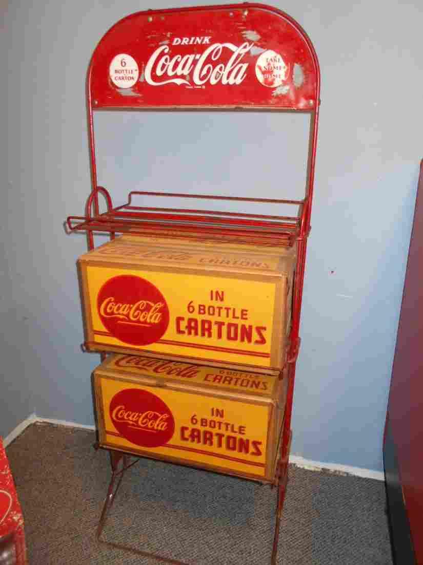 Coca Cola bottle carton rack