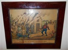 1894 Currier  Ives Darktown Fire Brigade framed print