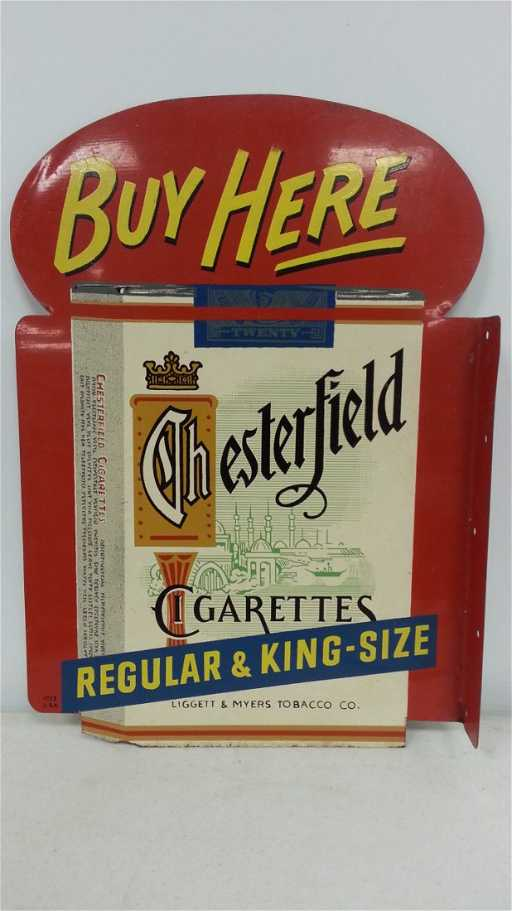 Original Chesterfield Flange Sign 2 Sided