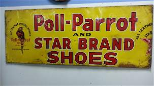 Rare Poll Parrot  Star Brand Shoes advertising sign