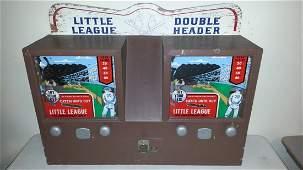 Mechanical coin op double baseball arcade game