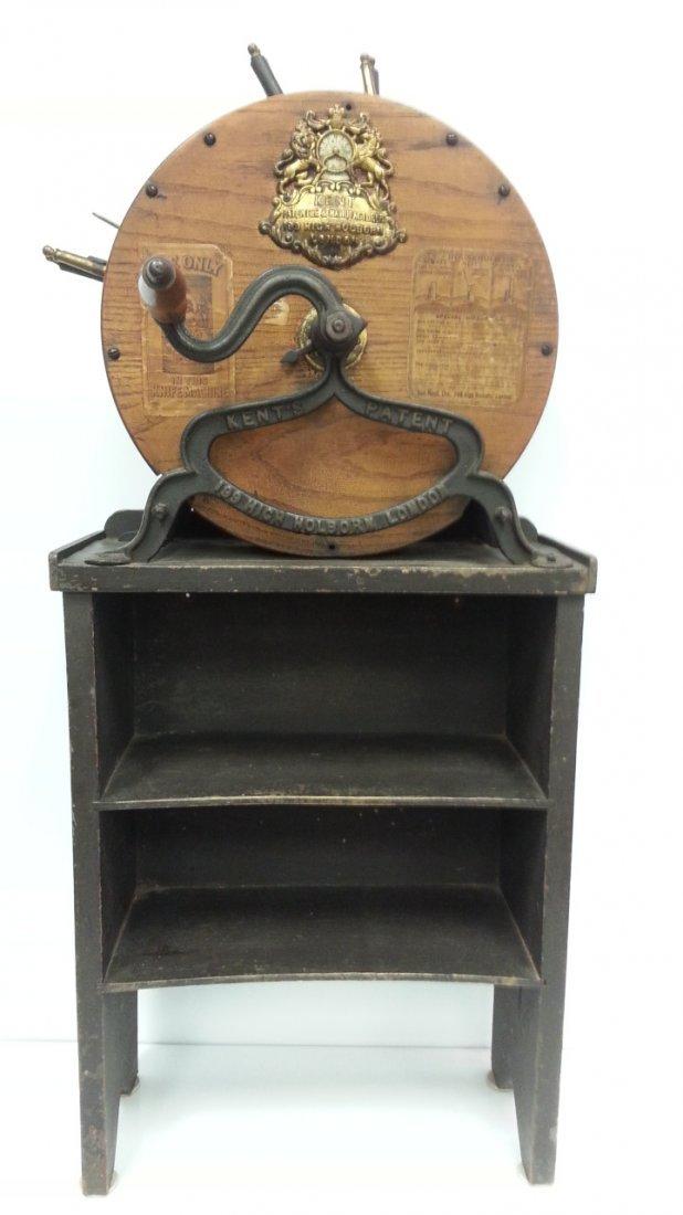 1800's Kent rotary knife cleaner / sharpener - 2