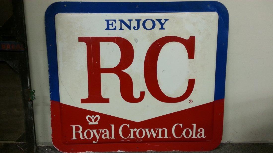 Large Royal Crown Cola Advertising Soda Pop Sign