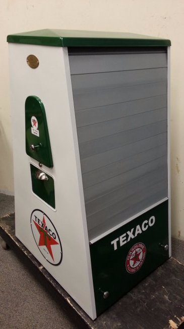 1950's Texaco Seloil restored oil display cabinet