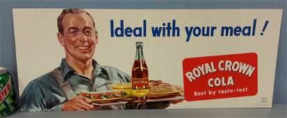 NOS Royal Crown Cola advertising cardboard sign