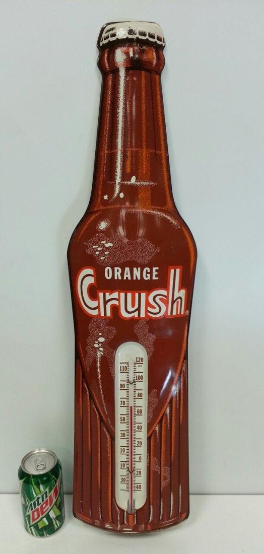 Amber Orange Crush advertising thermometer sign