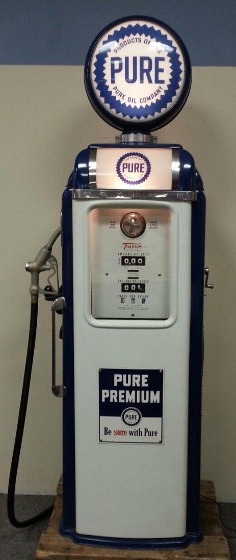 Professionally Restored Pure Gas Pump Petroliana