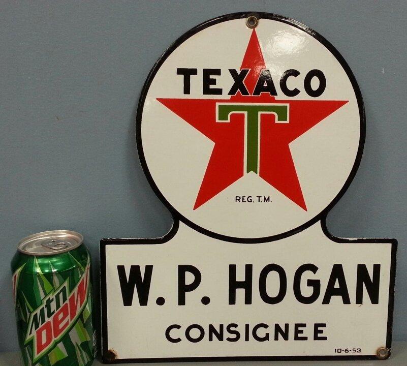 Porcelain Texaco Consignee petroliana sign