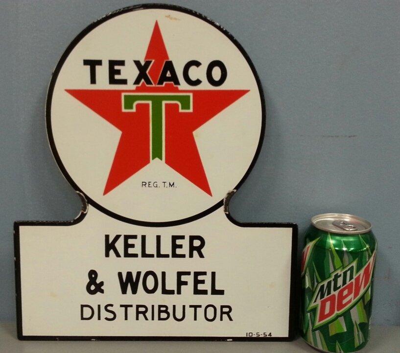 Porcelain Texaco Distributor petroliana sign