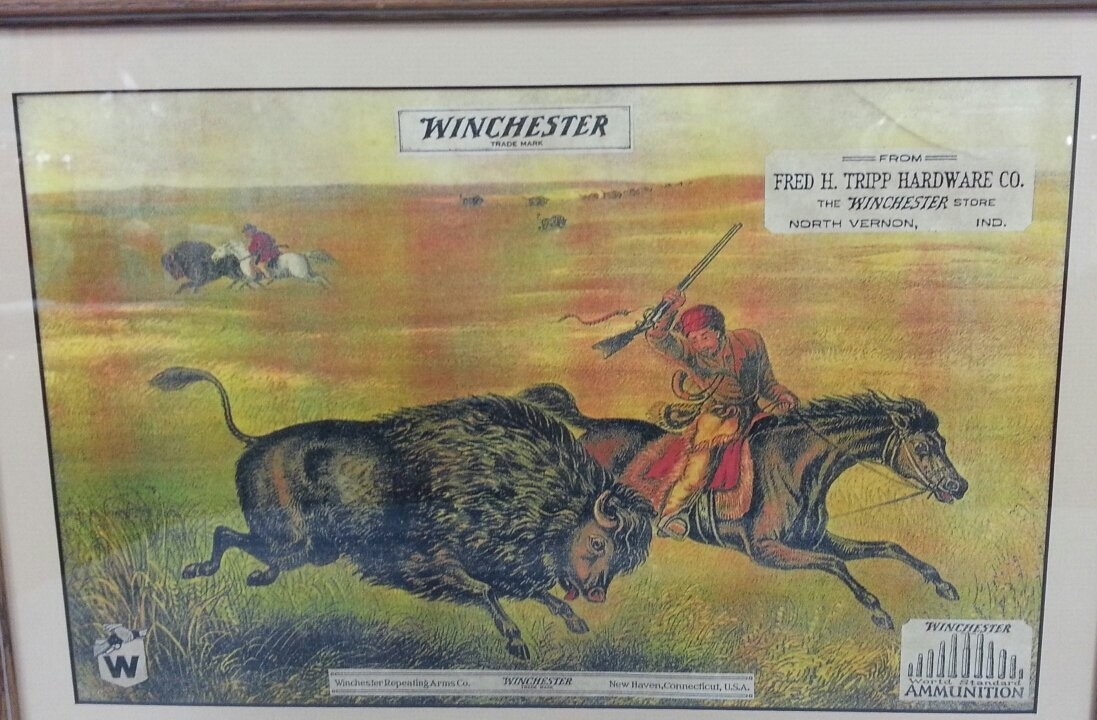 "7 RARE 1920's ""The Winchester Store"" advertising signs - 2"