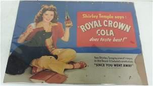 Scarce Royal Crown Cola Advertising Cardboard sign