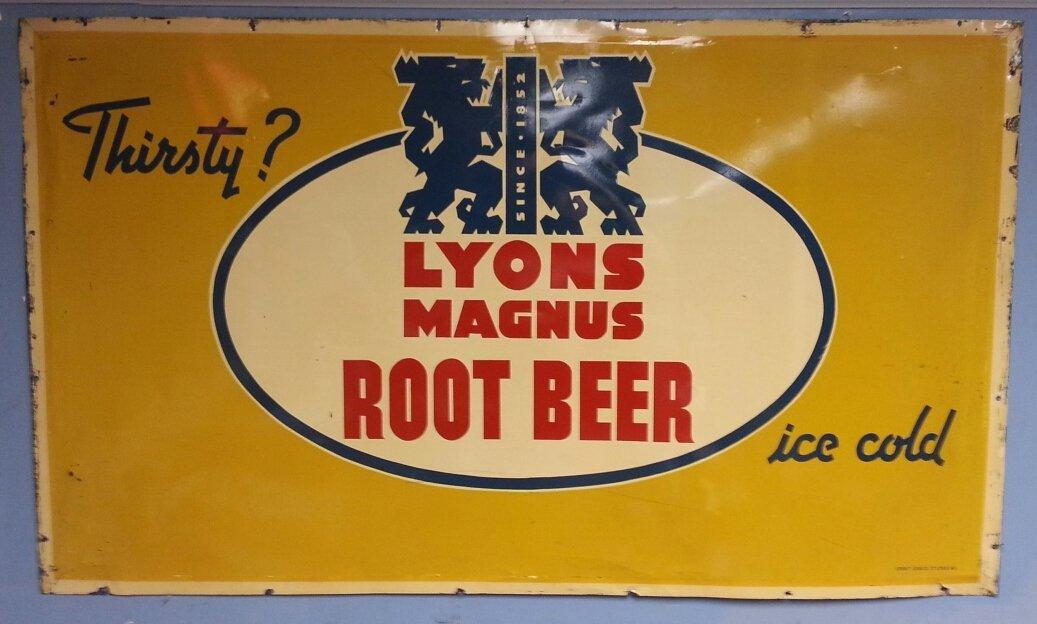 Lyons Magnus Root Beer Advertising Sign