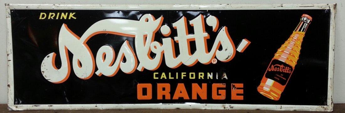Nesbitt's advertising soda pop sign