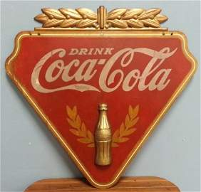 1930's Kay Display Wooden Coca Cola Advertising Sign