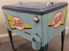 Rare Pepsi Cola advertising cooler