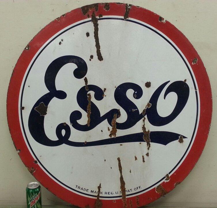 Porcelain ESSO/ Standard advertising petroliana sign