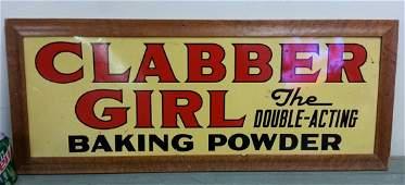 2 sided Clabber Girl Baking Powder tin sign