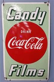 Porcelain Coca Cola Candy Films Sign