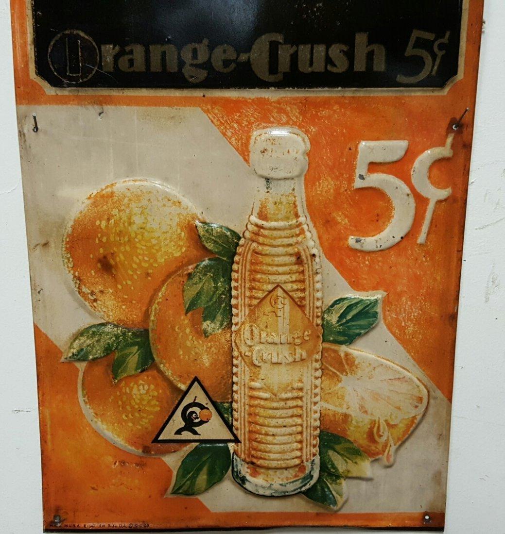Early embossed Orange Crush Menu Board - 2