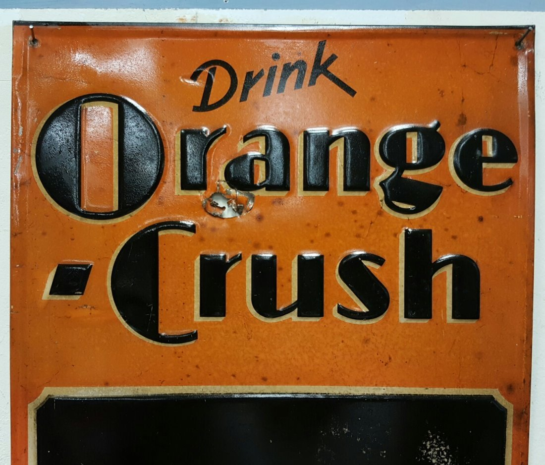 Early embossed Orange Crush Menu Board - 3