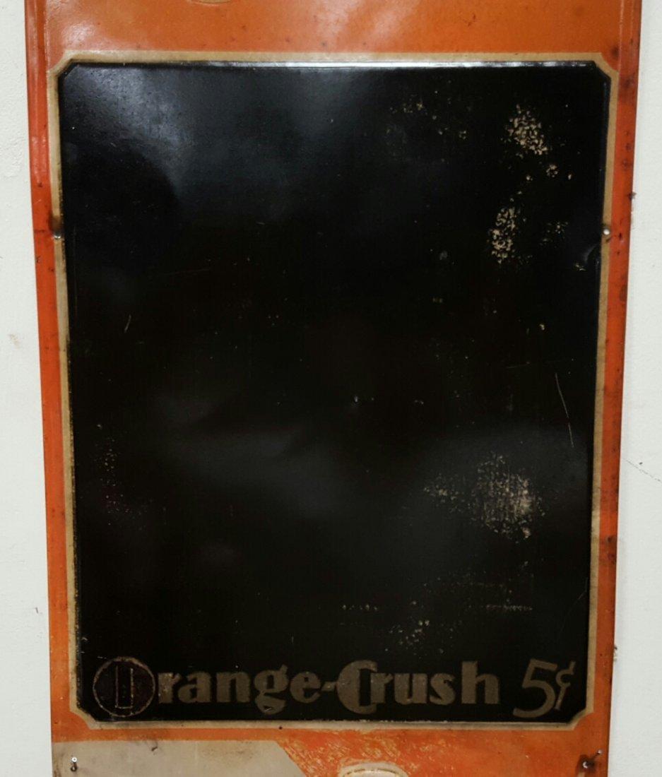Early embossed Orange Crush Menu Board - 4