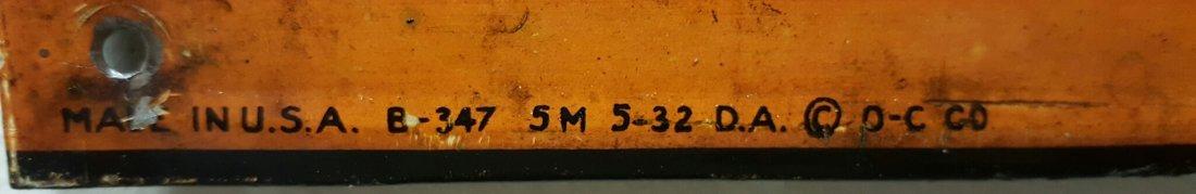 Early embossed Orange Crush Menu Board - 5