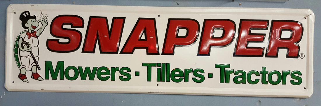 Embossed Snapper Advertising sign