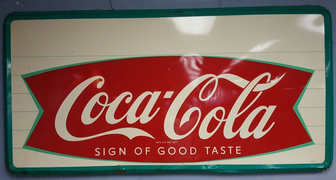 Coca Cola Sign of Good Taste Fishtail sign