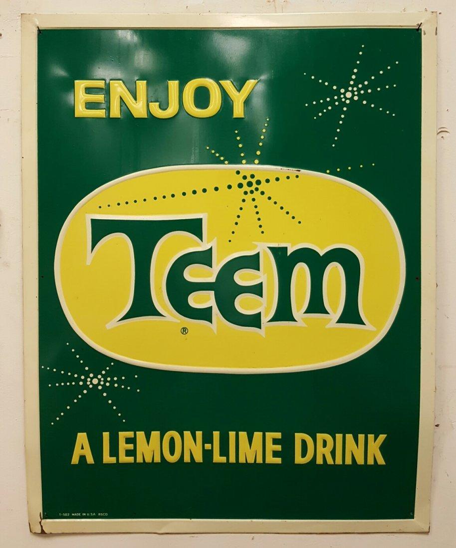 Embossed Teem Advertising Sign
