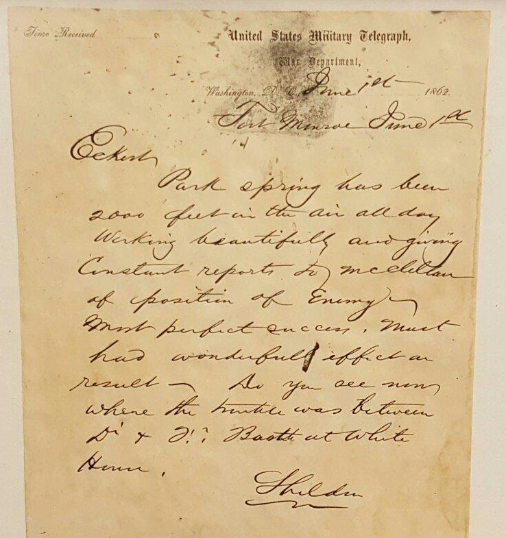 Union Civil War Reconnaissance Letter
