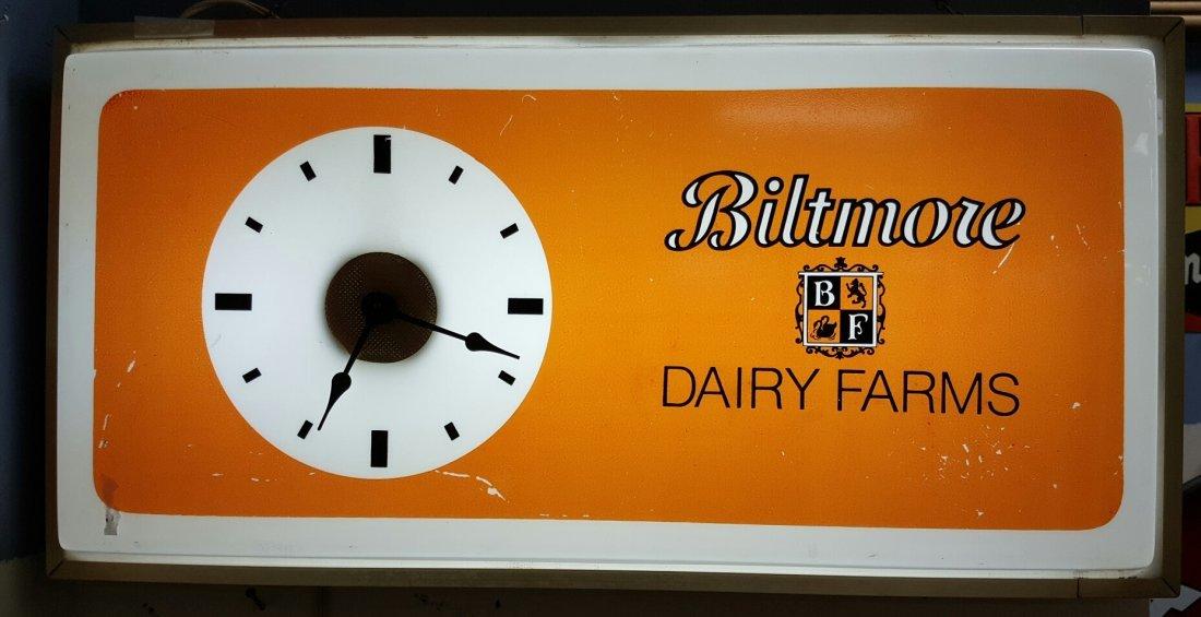 Biltmore Dairy Farms Light Up Clock