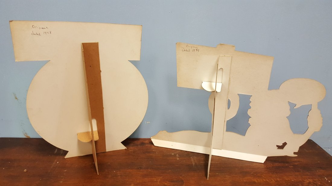 Pair of 1940's BALLANTINE Cardboard Stand up signs. - 2
