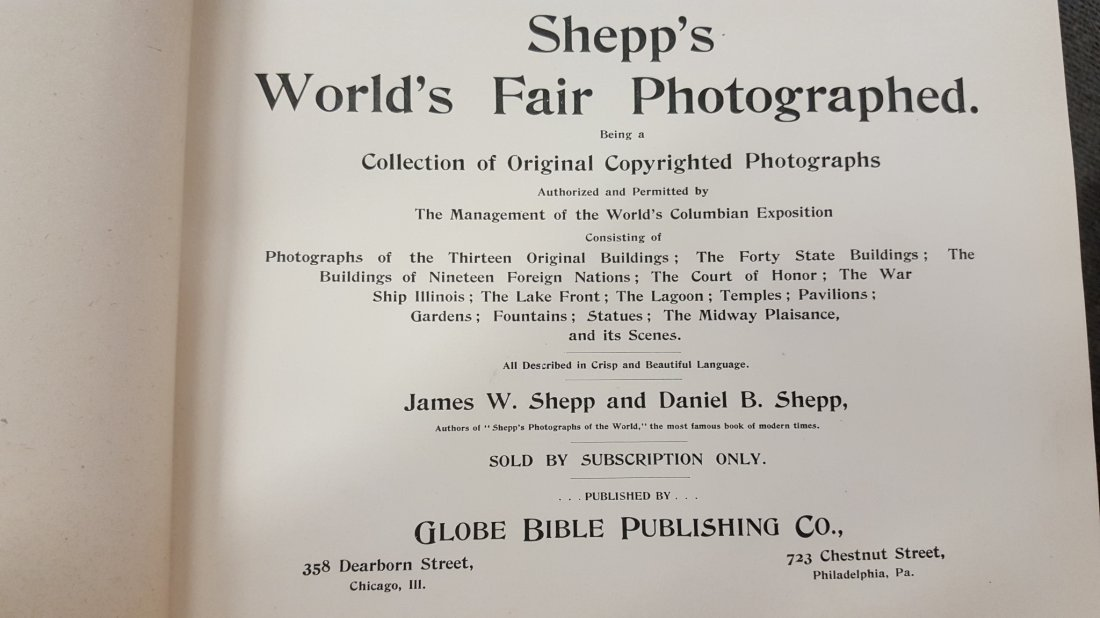1893 Shepp's World's Fair Photographed Book - 2
