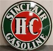 "48"" Porcelain 2 sided Sinclair Service Station Sign"