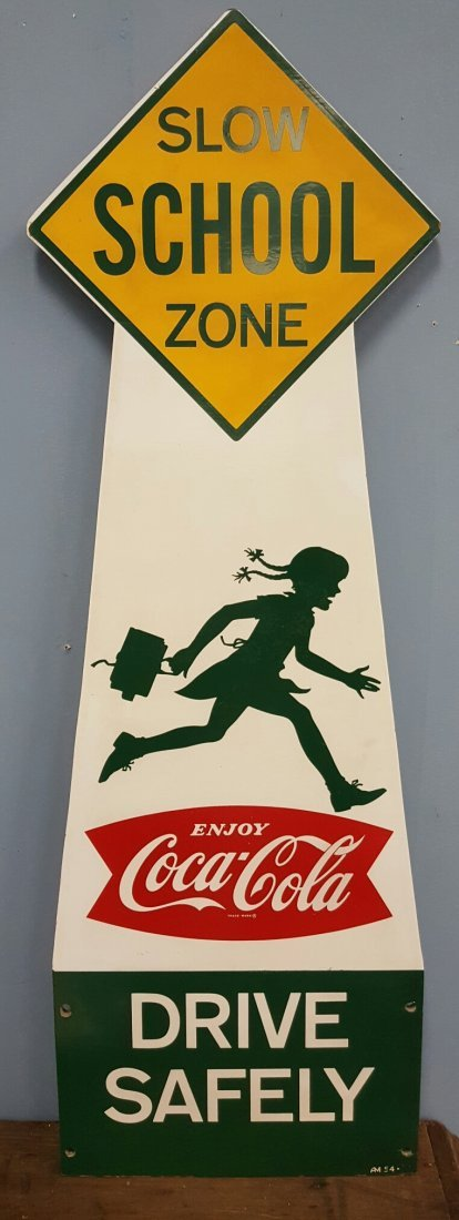 RARE NOS Coca Cola Girl School Crossing sign