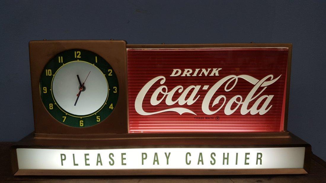 Coca Cola Light Up Countertop Clock