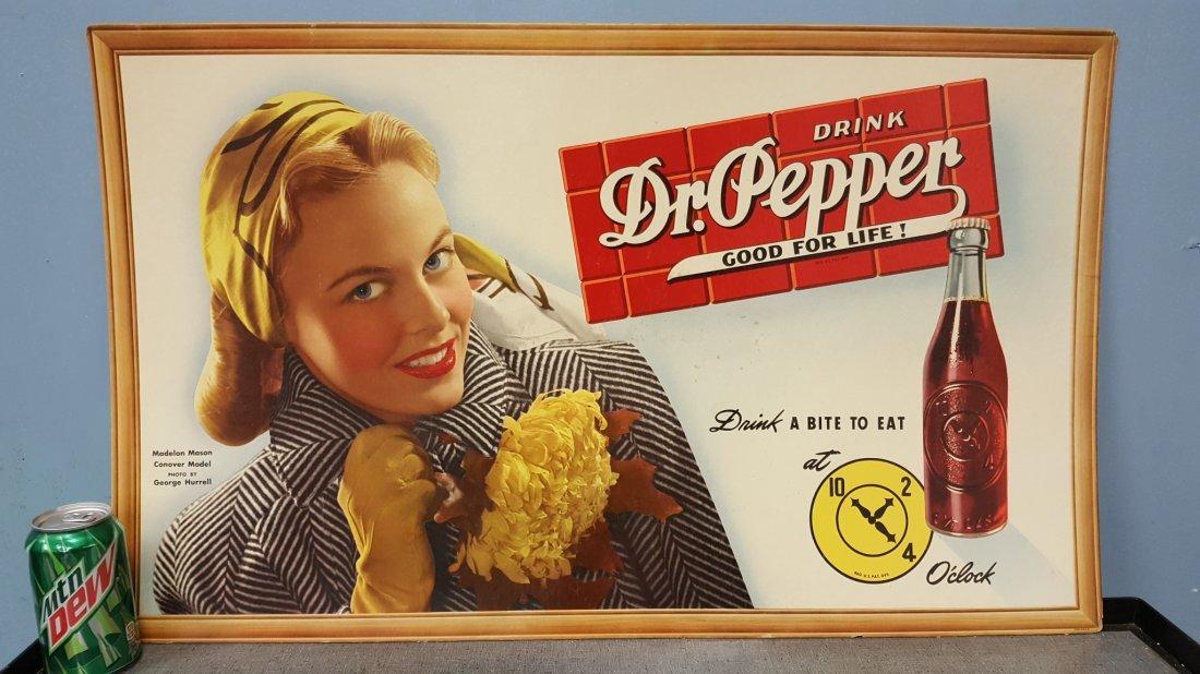 Dr Pepper Cardboard Advertising Sign