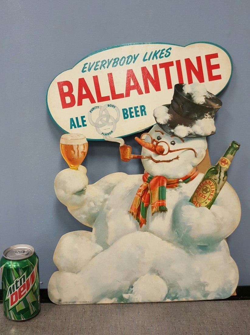 1948 Ballentine Cardboard Easel Back Sign