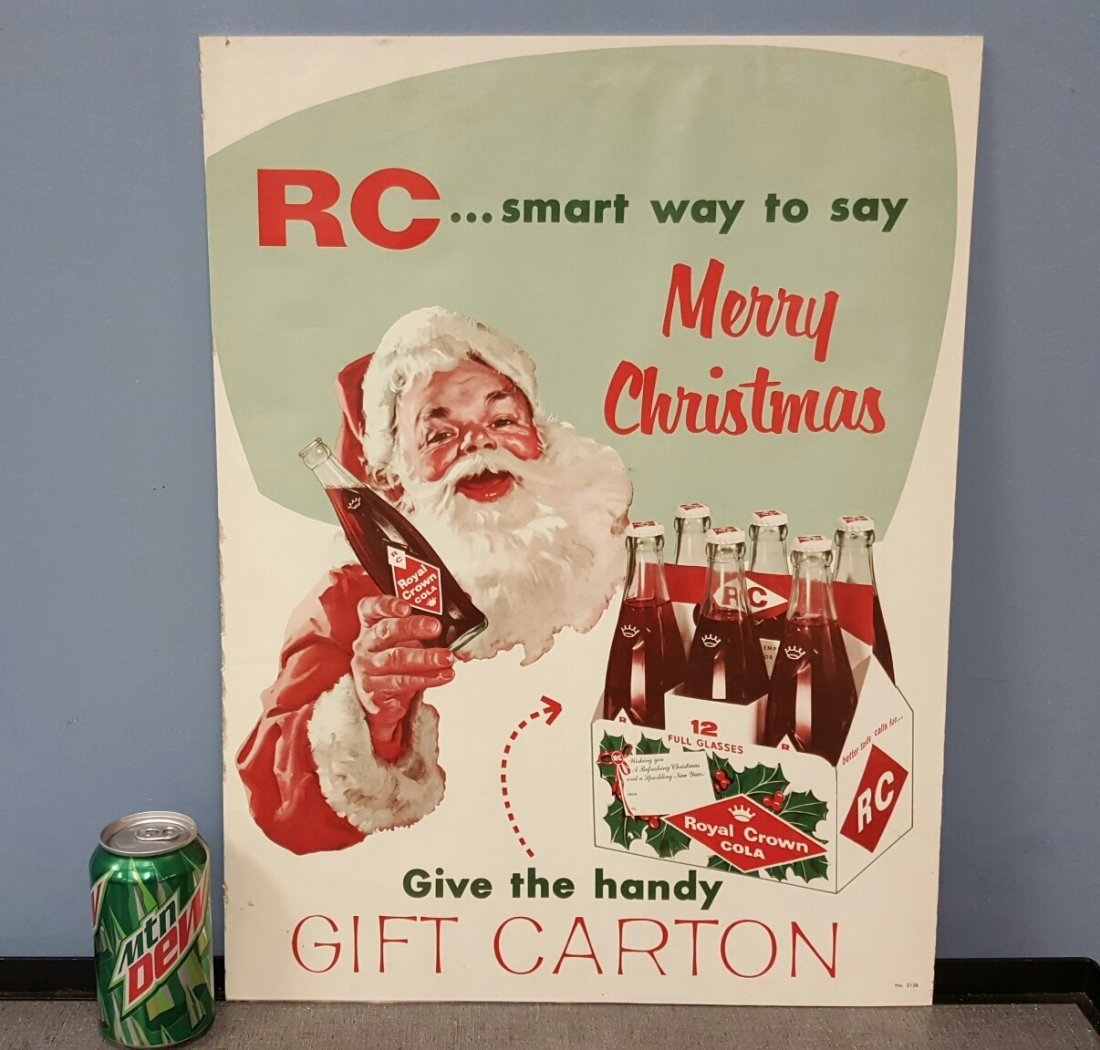 Royal Crown Cola with Santa Advertising Sign