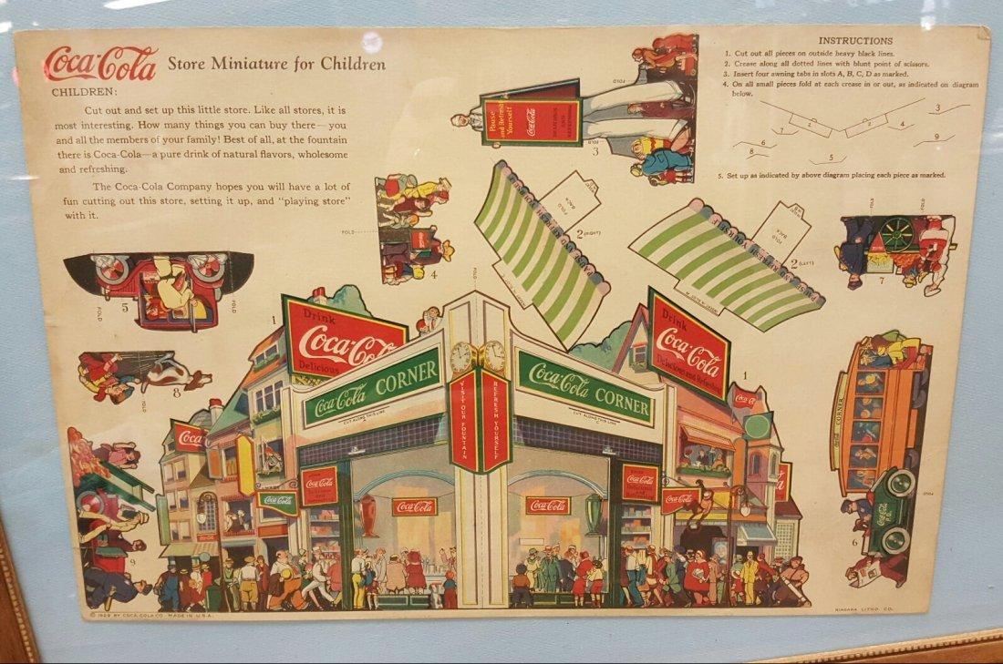 1929 Coca Cola Corner Store Child's Cutout