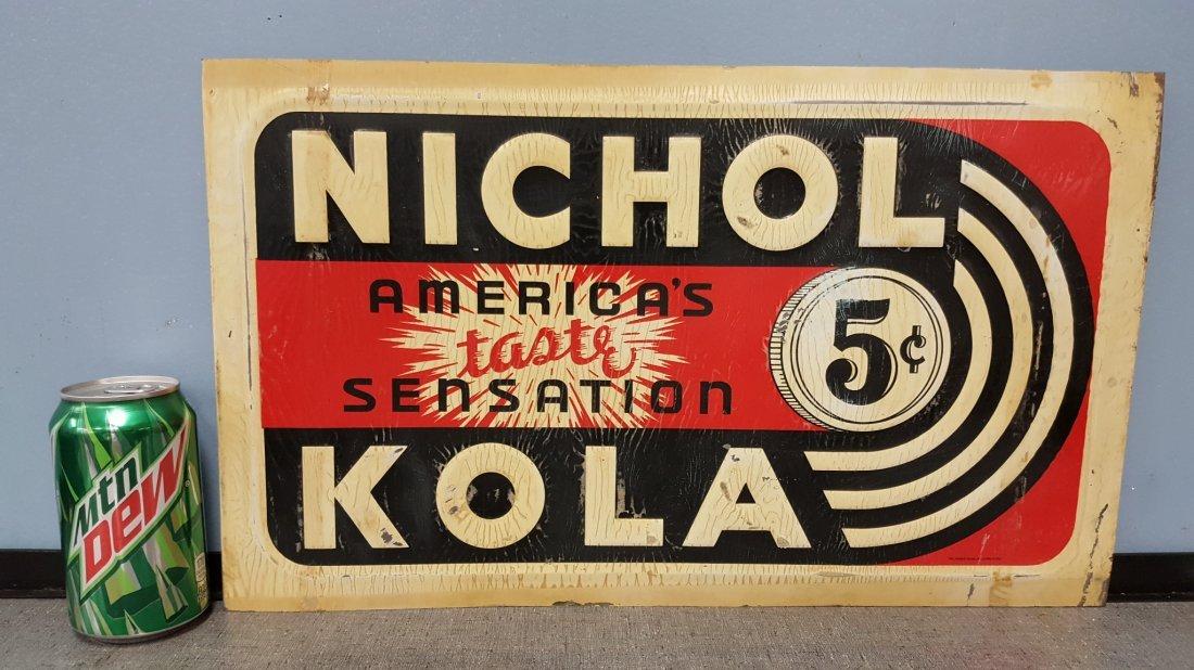 Nichol Kola Tin advertising sign