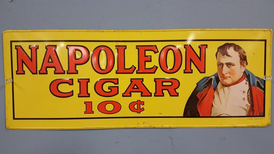 1974 Napoleon Cigar tin sign