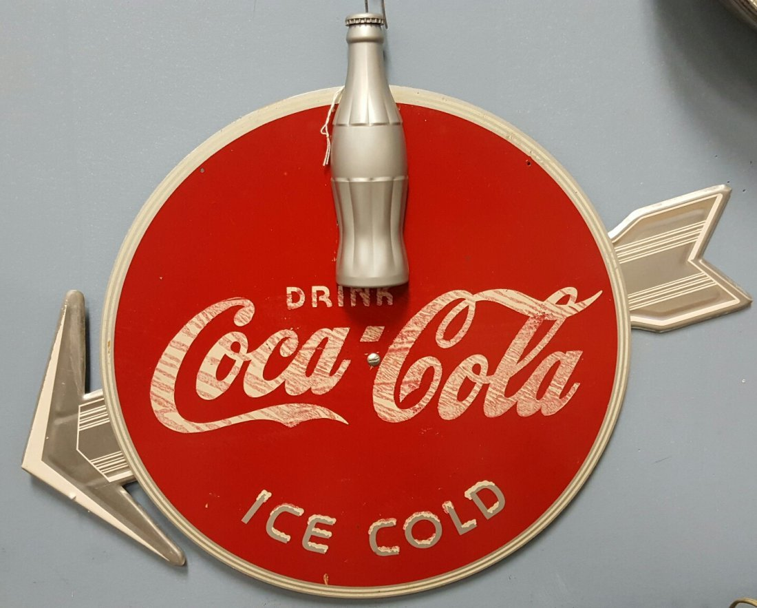 1930's Coca Cola Kay Display Arrow Sign