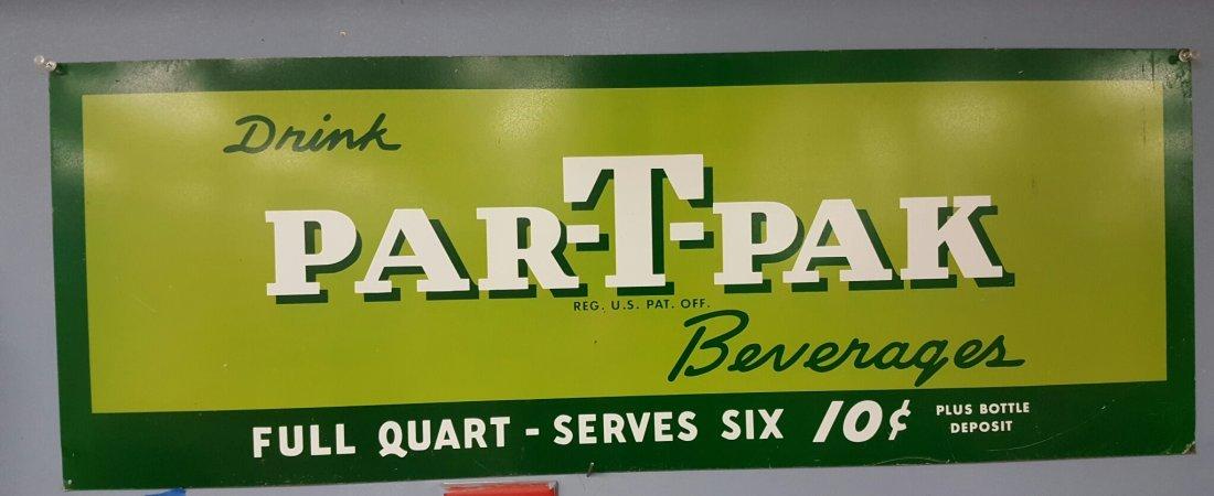 Par-T-Pak Beverages Tin Sign
