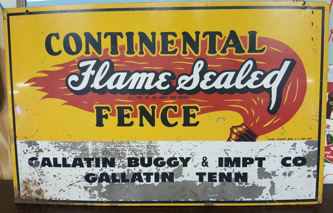Continental Flame Sealed Fence Sign